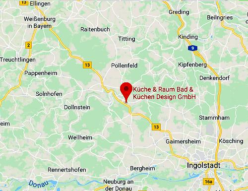 Anfahrt Küche & Raum Filiale in 85072 Eichstätt