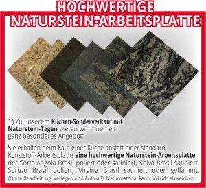 Hochwertige Naturstein-Arbeitsplatte