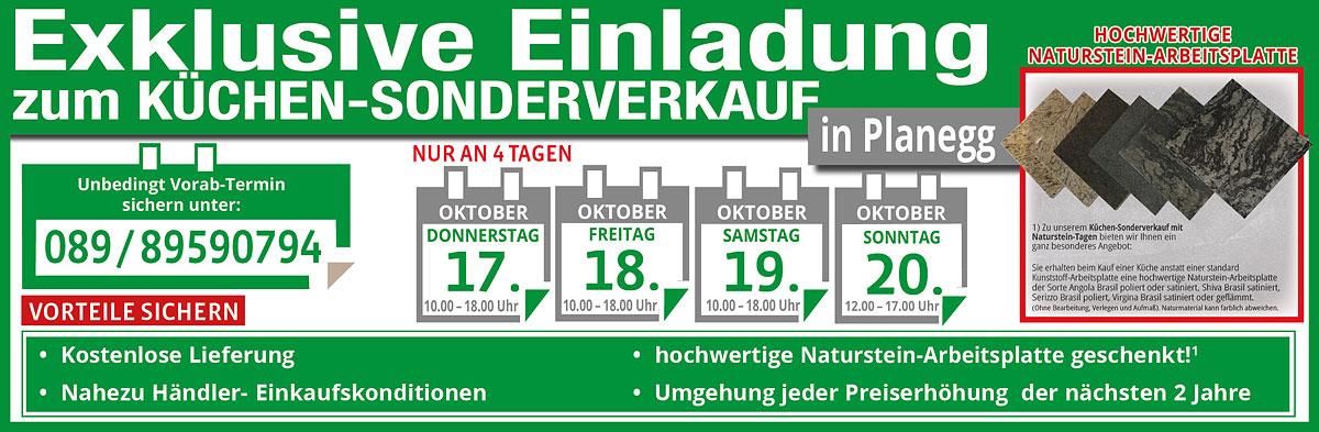 Küchen-Sonderverkauf Naturstein-Arbeitsplatte gratis, 2 Jahre Preisstabilität, Lieferung kostenlos bis Oktober 2021